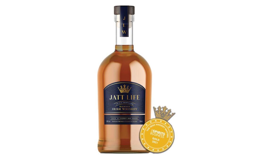 Jatt Life Irish whiskey is awarded a GOLD MEDAL!